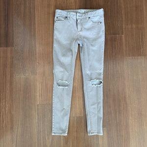 Free People Khaki Skinny Jeans 25